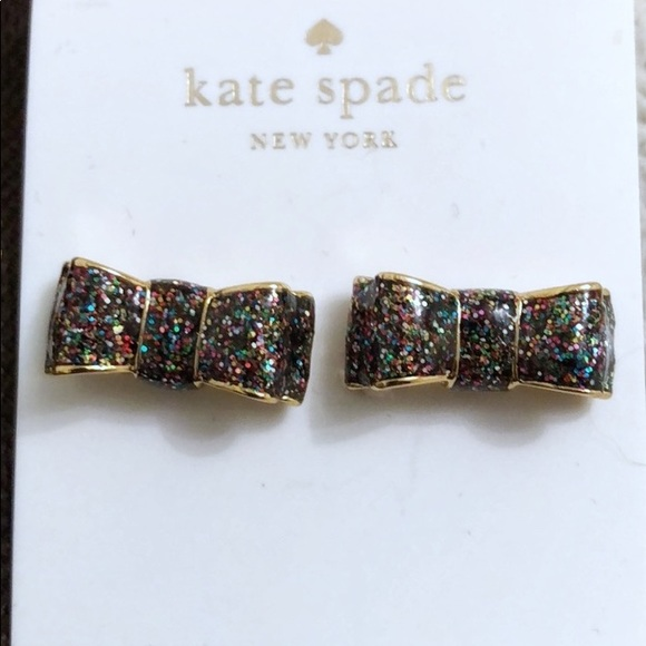 Kate Spade Multicolour bow earrings